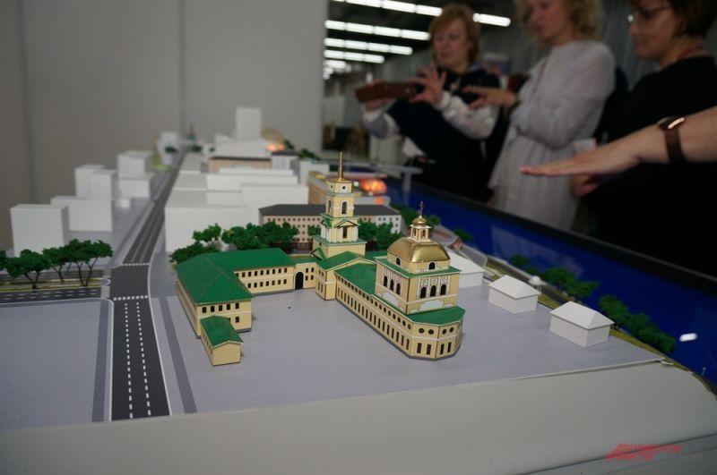 Пермяки также могут увидеть макет будущей пермской набережной.
