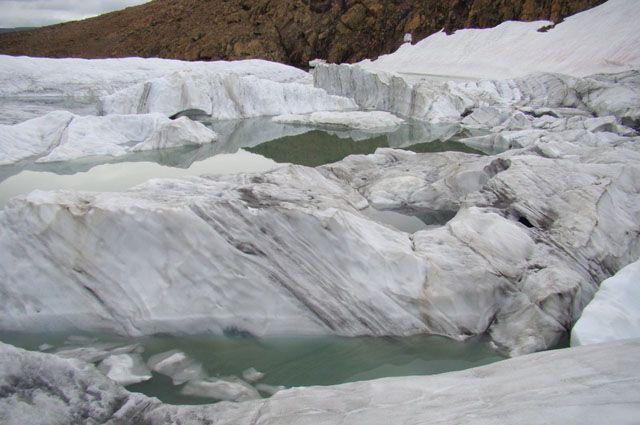Ледник Романтиков в ЯНАО.