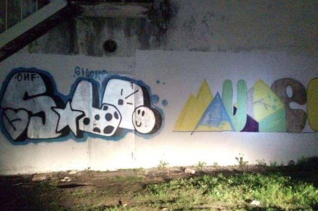 Школьники и подростки Тобольска удаляют хулиганские надписи на стенах домов