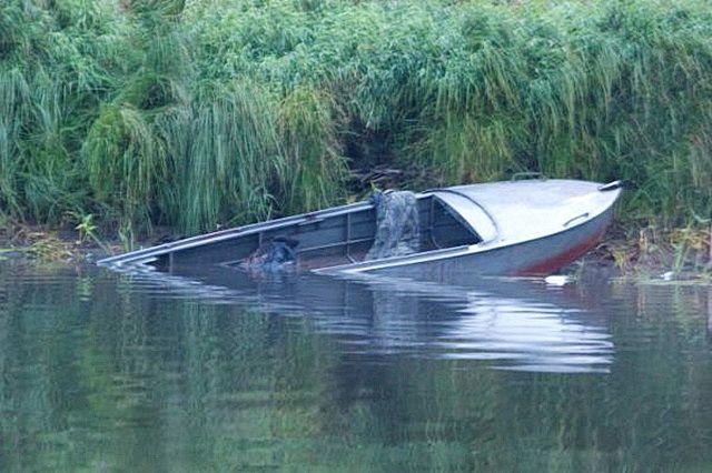 Лодку с детьми унесло по течению реки.