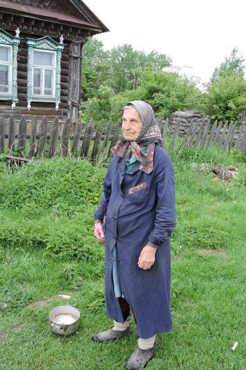 Старожил села Нина Павловна Леснова.