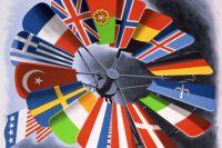 Фрагмент постера, созданного для продвижения плана Маршалла в Европе.