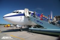 В аэропорту Калининграда встретили первый с 2012 года самолет из Варшавы.