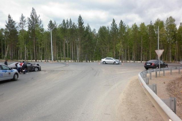Место ДТП на Байкальском тракте.