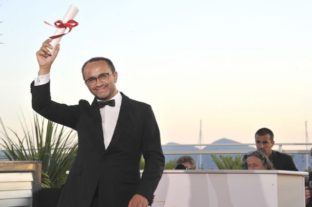 Андрей Звягинцев после получения Приза жюри на Каннском кинофестивале