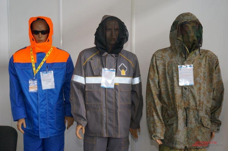 Кроме оборудования на выставке можно было увидеть защитные костюмы для работы на производстве.
