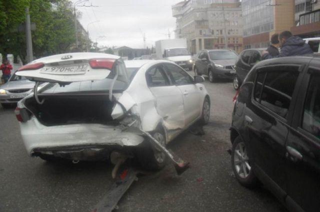 ВоВладимире случилось ДТП сучастием 5-ти авто