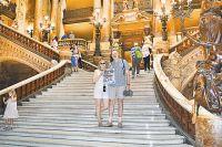 Марина и Алексей в парижском театре Гранд-опера. Фото из личного архива