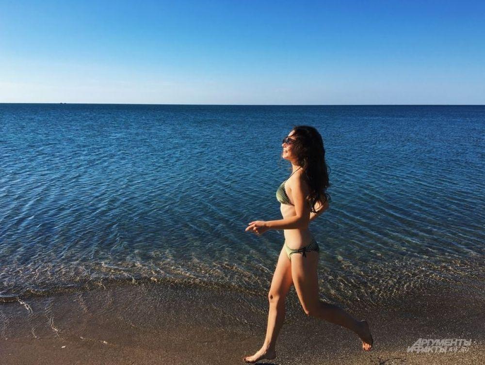 Утренняя пробежка вдоль моря.