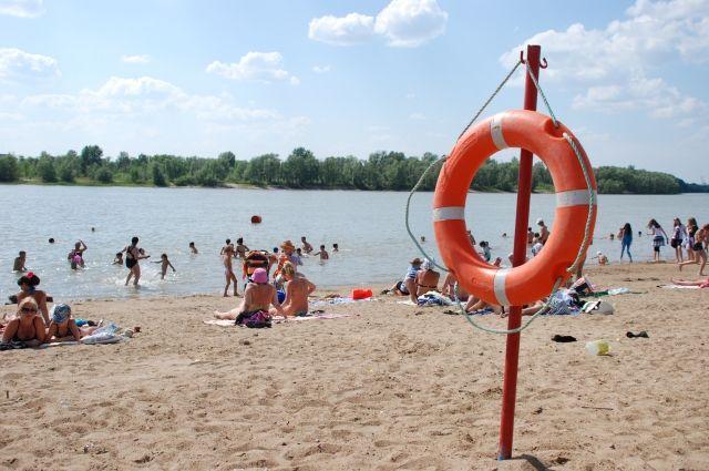 На пляже установят детскую зону отдыха