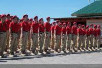 Церемония принятия присяги юнармейцами Алтайского края
