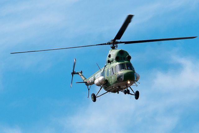 ВАндроповском районе Ставрополья потерпел крушение вертолёт
