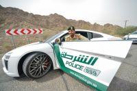 Полиция Дубая на новом Audi R8.