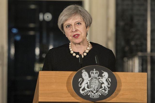 Мэй отдала голос  напарламентских выборах вСоединенном Королевстве Великобритании