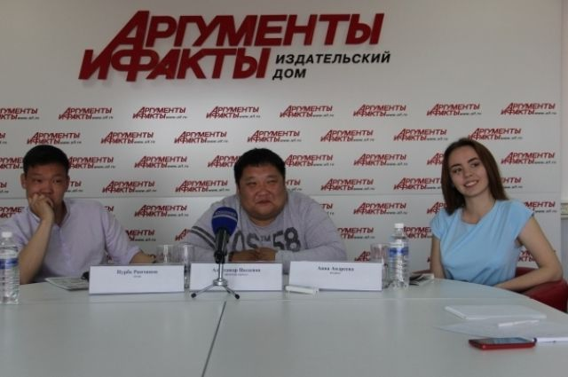 Пурбо Ринчинов, Александр Цыденов и Анна Андреева.