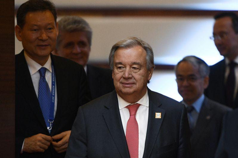 9 июня. Генсек ООН Антониу Гутерриш перед заседанием совета глав государств-членов Шанхайской организации сотрудничества (ШОС).