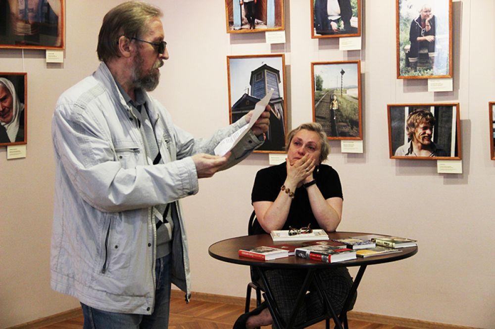 Автор текста гимнов наших города и области Николай Марянин не упустил возможности прочесть своё посвящение Евгению Евтушенко