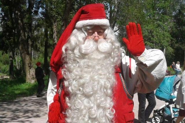 Санта-Клаус поздравил жителей Карелии с праздником от имени соседней страны