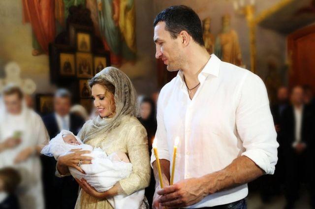 Во время крещения дочери Нестора Шуфрича