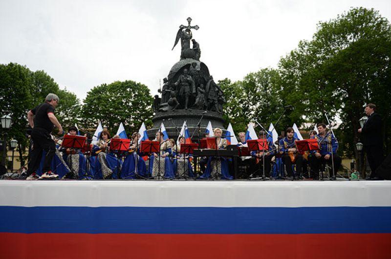 Концерт, посвященный празднованию Дня России в Великом Новгороде.