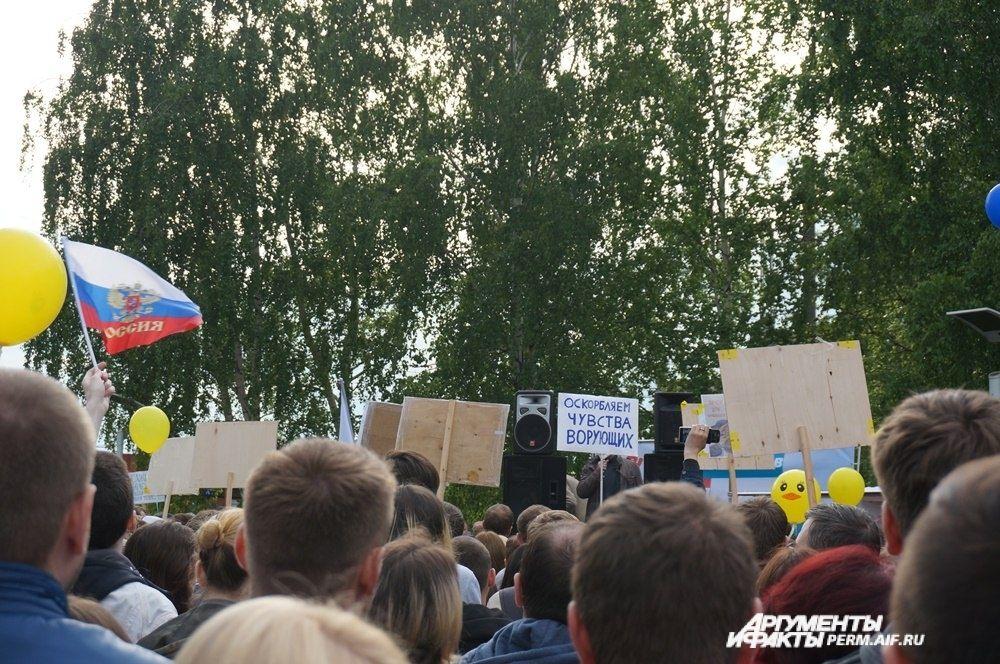 Митинг против коррупции прошёл в Парке камней.