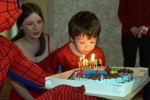 Малыш отпраздновал четвёртый день рождения.