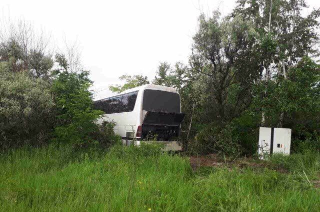 Под Воронежем рейсовый автобус слетел вкювет: пострадали двое детей