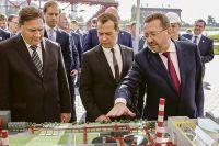 В пуске обжиговой машины-3 на Михайловском ГОКе принимал участие Дмитрий Медведев.