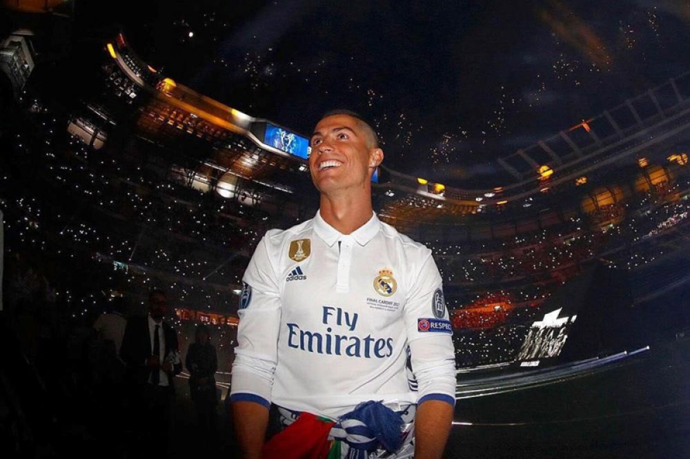 5 место. Португальский футболист, выступающий за испанский клуб «Реал Мадрид» Криштиану Роналду — $93 млн.