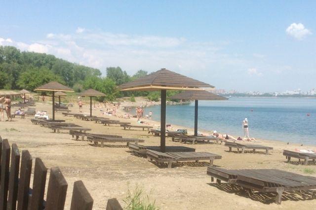 Пляж Якоби в Иркутске.