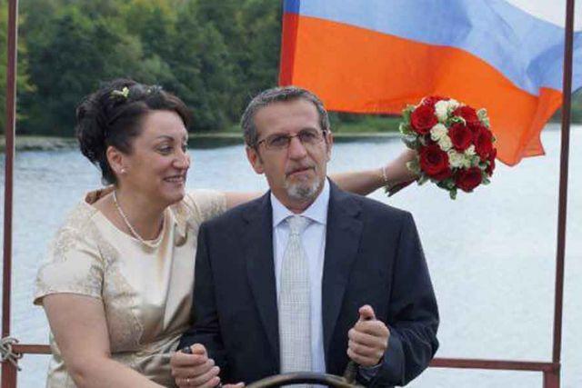 Клаудио Марин с любимой Ленуччей.