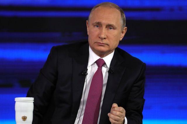 Вопрос Путину открасноярца стал самым популярным напросторах интернета