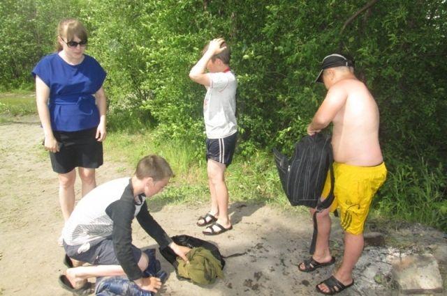 Дети купались на Гребном канале