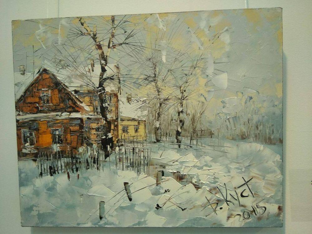 """""""Зимний этюд в деревне"""", 2015 г."""