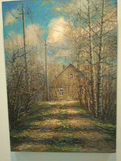 На персональной выставке представлено более 50 его работ, выполненных в разные годы.