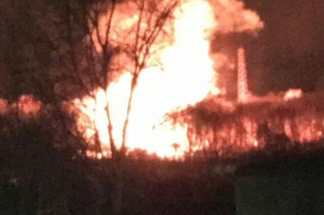 Пожар произошел напороховом заводе вКазани