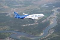 Самолет МС-21 в иркутском небе.
