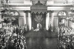 Фотография торжественного открытия Государственной Думы 4-го созыва, ставшей последней в дореволюционной истории страны