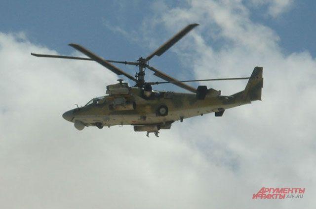 Ка-52 над Сирией.