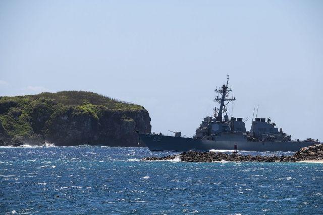 ВЯпонском море продолжаются поиски пропавших военных моряков США