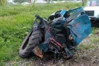 Шансов выжить у водителя трактора не было.