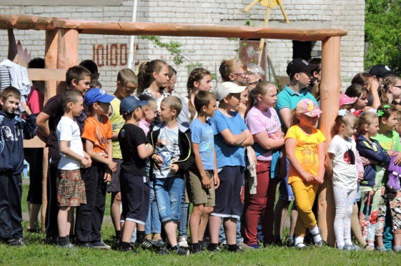 Юные болельщики к стартам готовы.