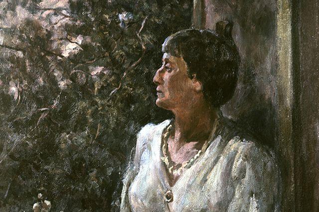Портрет Анны Ахматовой работы художника А.А. Осьмеркина, 1939 год.