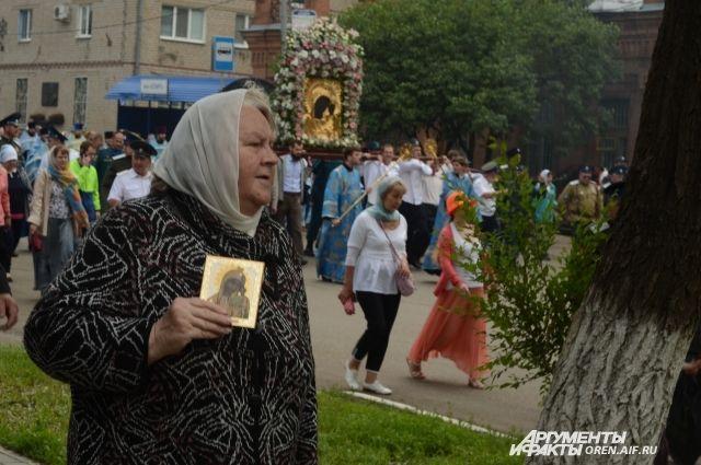 Жители Оренбуржья почтили память чудотворной иконы Табынской Божией Матери