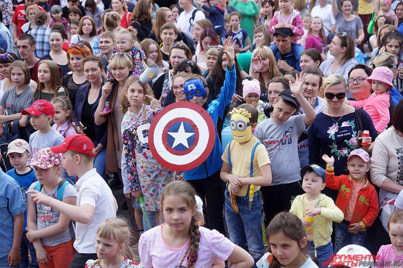 В рамках праздничной программы выбрали пермяков в самых необычных костюмах.