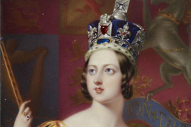 Коронационный портрет кисти Джорджа Хейтера. (фрагмент)