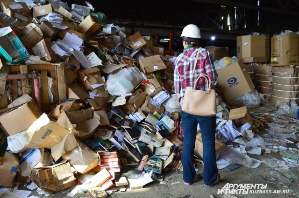 К нашему великому сожалению, на приёмке мы увидели много книг.