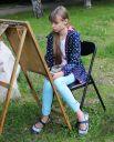 На пленер вышли юные художники