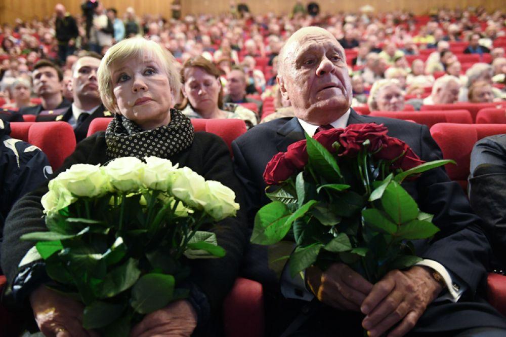 Режиссёр Владимир Меньшов с супругой, актрисой Верой Алентовой.