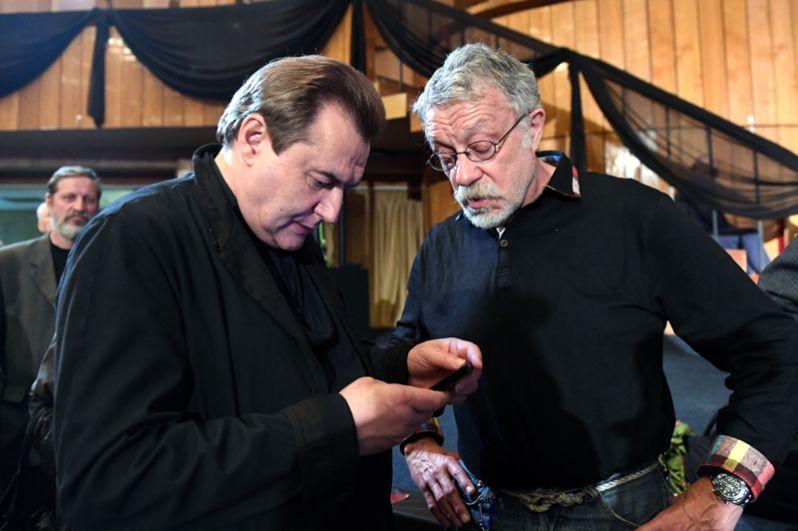 Режиссёр Алексей Учитель (слева) и фотограф, журналист Юрий Рост.